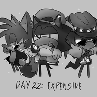 Inktober Day 22: Expensive by Lallelol