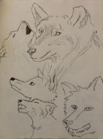 Wolves by TheGreenNightingale