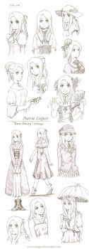 Aurie sketches by meago