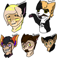 [groups]Hoomans And A Cat Species by millemusen
