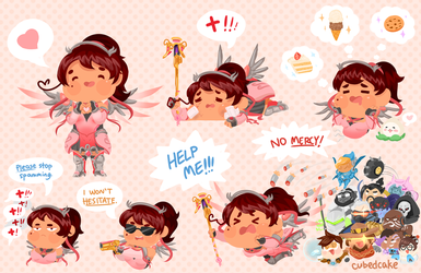 The life of a pink Mercy main by CubedCake