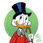Uncle Scrooge with cane