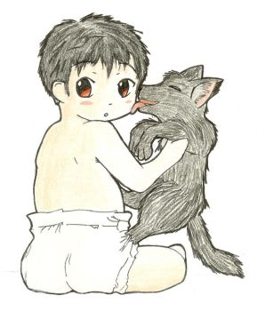 Raz and his familiar by Nazuna-Sakaki