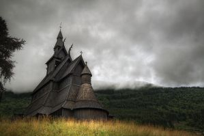 Hopperstad Stave Church by filth666