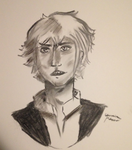 Garrick Charcoal Commission by BarnabeeBaby