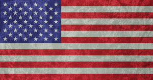 USA ~ Grunge Flag (1960 - ) by undevicesimus