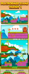 Side Scrolling Game: tileset 1 by rixlauren