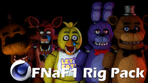 CINEMA4D FNAF1 2.0 PACK DOWNLOAD!! by GaboCOart