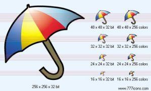 Umbrella Icon by phorago