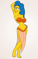 Marge Simpson as Manjula by paulibus2001