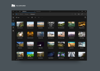 Windows File Explorer Concept by Metroversal