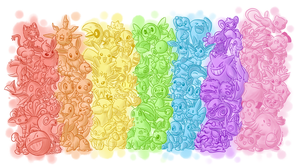 A colorful Pokemon rainbow! by BoxBird