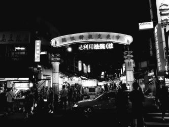 Taipei Night Market Entrance by Ghostexorcist