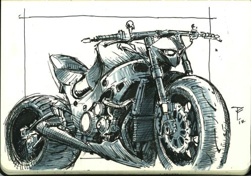 An Art A day #59 (Suzuki Hayabusa) by tachi-tachi