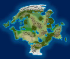 Continent Map by dm142