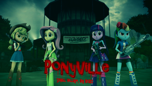 [SFM] Left 4 Dead EqG: PONYVILLE by FD-Daylight