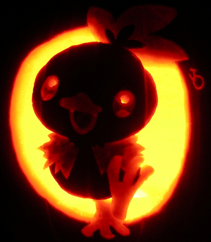 Fire Chicken Pumpkin by johwee
