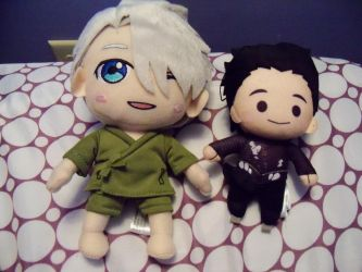 New plushies: Viktor and Yuuri by SusanLucarioFan16