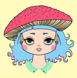 Mushroom girl by weirdklown