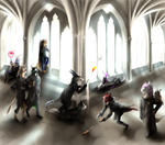 Hogwarts Hooligans - group YCH by Mspugluver