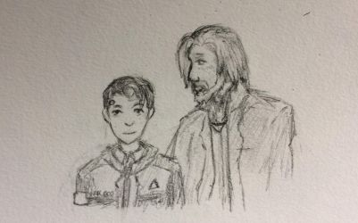 Connor and Hank [Traditional] by BackFromHell666