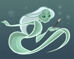 Ghost Mermaid by lindbloem