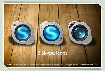Skype replacement icons by GianlucaDivisi