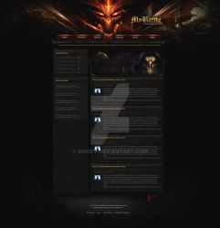 MyBattle - Diablo 3 Website design by InsDev