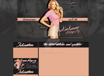 Blake Lively, Leighton Meester Layout by Lexigraphic