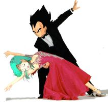 Vegeta and Bulma tango by amaranthe333