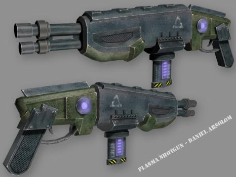 Plasma Shotgun 3D Model by Kritter5x