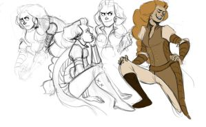 some sigyn sketches by LessienMoonstar