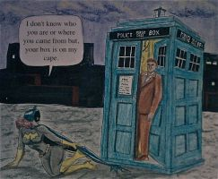 THE DOCTOR MEETS BATGIRL 217 by MajorO