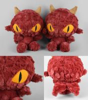 Red Dragon Plushies by SewDesuNe