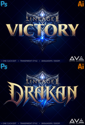 ONE CLICK EDIT - MMORPG Fantasy Game LOGO by Ave by MrAve20