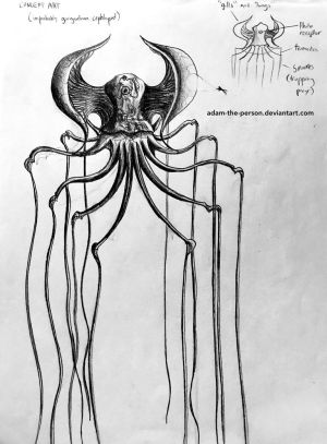 The Fishing Squid [Conceptual Sketch] by Adam-The-Person