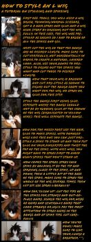 Wig Tutorial L and Spiking by twinfools