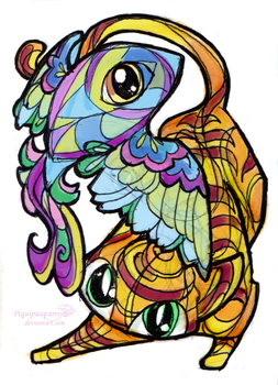 Colorful creatures 3 by Piquipauparro