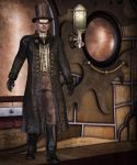 Steampunk Party Boy by parrotdolphin