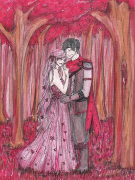 In A Forest Of Red by BeckaNeeChan