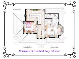 House of Lorelai and Rory Gilmore - First Floor by nikneuk