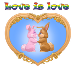 Lgbt bunnies - icons by CristianoReina