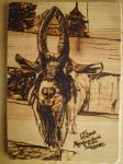Goat on Pine by magicalaurie