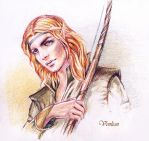 Amras with a Bow by Venlian