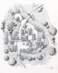 Village of Bourmout [uncolored] by SirInkman