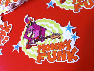 Monkey Sticker 03 by mhannecke