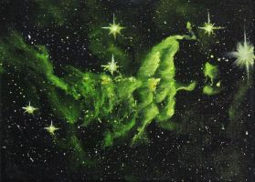 Green Spider Nebula by crazycolleeny