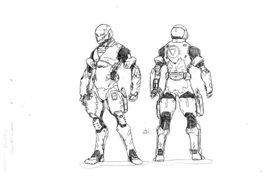 HS Pilot Suit Male by mikecharles