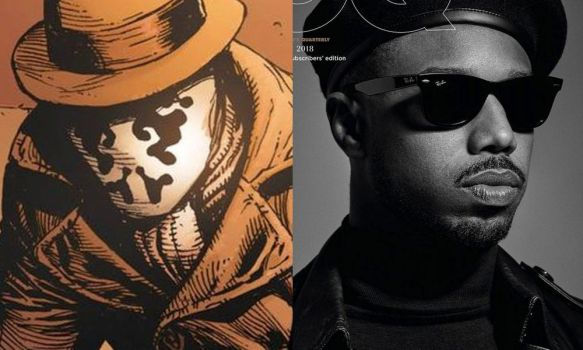 Michael B Jordan as Rorschach II (Watchmen) by attaturk5