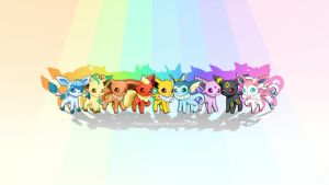 Eeveelution Collection Wallpaper by RebeccaAlexa